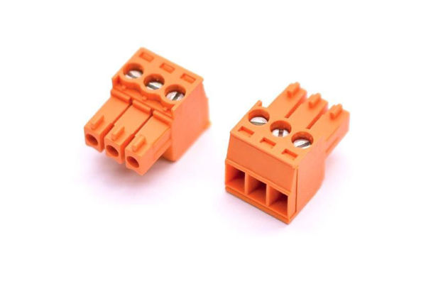 Picture of CON PLUG 3PIN 1X3 EURO 3.5MM ORNG
